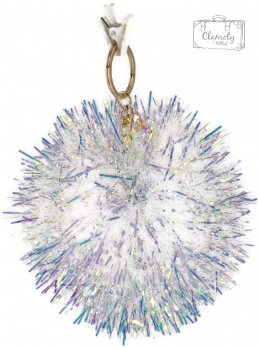 KEY RING WHITE SNAWBALL SUPER GIFT